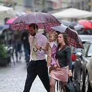 ITA/Parma/20120929- Doop prinses Luisa Irene, Tjalling ten Cate en kindermeisje met Paola Cecilia Laurentien(25-02-11)