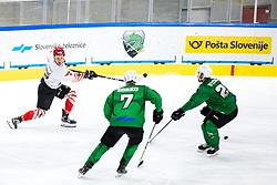 Blaz Tomazevic of HDD SIJ Acroni Jesenice during ice hockey match between HK SZ Olimpija and HDD SIJ Acroni Jesenice in fifth game of Final at Slovenian National League, on May 10, 2021 in Hala Tivoli, Ljubljana, Slovenia. Photo by Matic Klansek Velej / Sportida