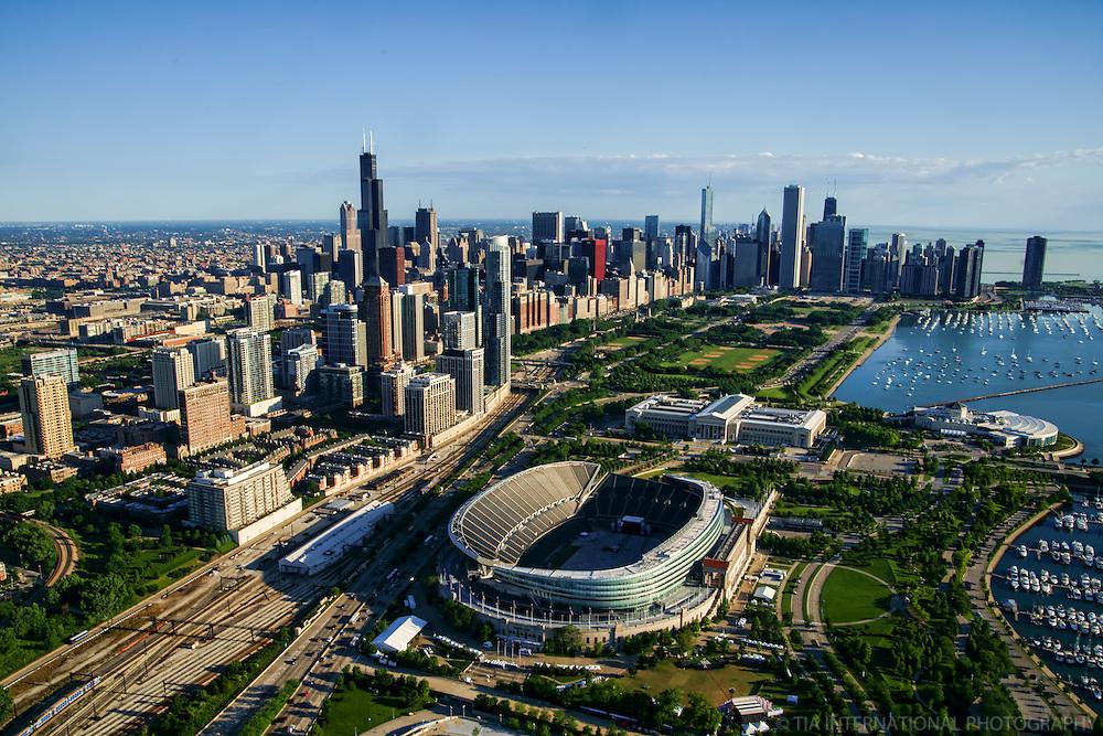 Chicago Skyline featuring Soldier Field & Museum Campus (2)