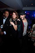 LEROY ANDERSON; SARA COLOHAN; MARCUS MAVERICK, Proud Cabaret launch. Mark Lane. London. EC3. 3 November 2009