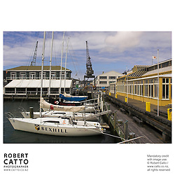 Sailboats in Lambton Harbour, Wellington, New Zealand.<br />