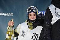 Snowboard / Snøbrett<br /> Foto: Gepa/Digitalsport<br /> NORWAY ONLY<br /> <br /> INNSBRUCK,AUSTRIA,06.FEB.16 - SNOWBOARD - Air and Style, award ceremony. Image shows Marcus Kleveland (NOR).