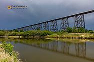 High Line Bridge over the Sheyenne River in Valley City, North Dakota, USA