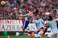Atletico de Madrid´s Raul Jimenez and Malaga´s Weligton during 2014-15 La Liga match between Atletico de Madrid and Malaga at Vicente Calderon stadium in Madrid, Spain. November 22, 2014. (ALTERPHOTOS/Victor Blanco)