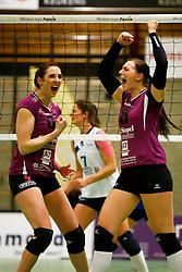 20150207 NED: Eredivisie Sliedrecht Sport - Eurosped TVT, Sliedrecht<br />Jeanine Stoeten (9) of Eurosped TVT, Lea van Rooijen (8) of Eurosped TVT<br />©2014-FotoHoogendoorn.nl / Pim Waslander