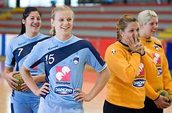 Maja Son, Barbara Varlec, Branka Zec and Misa Marincek at practice of Slovenian Handball Women National Team, on June 3, 2009, in Arena Kodeljevo, Ljubljana, Slovenia. (Photo by Vid Ponikvar / Sportida)