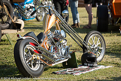 Daril Borba's Mulberry Street Showclass Magazine's People's Choice Winning 1949 Harley-Davidson Panhead chopper at the Born Free Motorcycle Show-8 at the Oak Canyon Ranch. Silverado, CA, USA. Saturday June 25, 2016.  Photography ©2016 Michael Lichter.