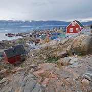 The small fishing village of Uummannaq, Greenland.