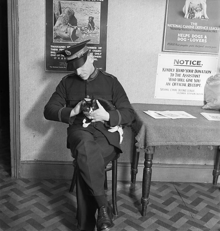 Waiting Room, Dog Hospital, Croydon, London, England, 1935