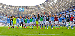 Football: Germany, 2. Bundesliga, TSV 1860 Muenchen - 1.FC Nuernberg, 17.05.2015,<br /> 1860 Muenchen players celebrate at the end of the match<br /> <br /> © pixathlon<br /> <br /> +++ NED out !!! +++