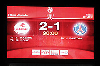 FOOTBALL - FRENCH CHAMPIONSHIP 2011/2012 - L1 - LILLE OSC v PARIS SAINT GERMAIN  - 29/04/2012 - PHOTO JEAN MARIE HERVIO / REGAMEDIA / DPPI - SCOREBOARD