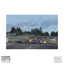 Nico Hulkenberg;Loic Duval;Jonny Reid at the A1 Grand Prix of New Zealand at the Taupo Motorsport Park, Taupo, New Zealand.