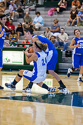 16 June 2012: Sarah Oprondak and Kelsey Dirks struggle for the ball. Illinois Basketball Coaches Association (IBCA) Girls All Star game at the Shirk Center in Bloomington IL