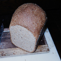 Hearty Rye & Whole Wheat Bread. Image taken with a Leica X2 camera (ISO 100, 24 mm, f/8, 1/60, pop-up flash)