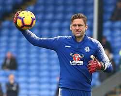 December 30, 2018 - London, England, United Kingdom - London, England - 30 December, 2018.Chelsea's Rob Green during the pre-match warm-up .during Premier League between Crystal Palace and Chelsea at Selhurst Park stadium , London, England on 30 Dec 2018. (Credit Image: © Action Foto Sport/NurPhoto via ZUMA Press)