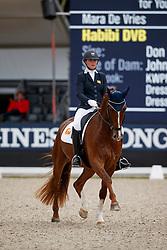 De Vries Mara, NED, Habibi DVB<br /> Longines FEI/WBFSH World Breeding Dressage Championships for Young Horses - Ermelo 2017<br /> © Hippo Foto - Dirk Caremans<br /> 04/08/2017