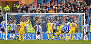 SSheffield Wednesday Defender Daniel Pudil clears the ball off the line from a corner during the Sky Bet Championship match between Sheffield Wednesday and Leeds United at Hillsborough, Sheffield, England on 16 January 2016. Photo by Adam Rivers.
