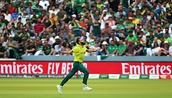 South Africa's Imran Tahir celebrates taking the wicket of Pakistan's Imam-ul-Haq during the ICC Cricket World Cup group stage match at Lord's, London.