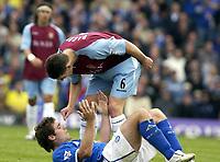 Picture: Henry Browne.<br />Date: 19/10/2003.<br />Birmingham City v Aston Villa FA Barclaycard Premiership.<br />Gareth Barry of Villa accuses David Dunn of diving