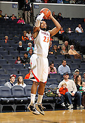 Nov 6, 2010; Charlottesville, VA, USA; Virginia Cavaliers f Mike Scott (23)  shoots the ball Saturday afternoon in exhibition action at John Paul Jones Arena. The Virginia men's basketball team recorded an 82-50 victory over Roanoke College.