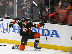 November 7, 2017 - Los Angeles, California, U.S - Anaheim Ducks forward Jared Boll (40) celebrates after scoring during a 2017-2018 NHL hockey game against Los Angeles Kings in Anaheim, California on Nov. 7, 2017. Los Angeles Kings won 4-3 in overtime. (Credit Image: © Ringo Chiu via ZUMA Wire)
