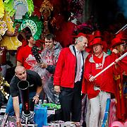 NLD/Amsterdam/20100807 - Boten tijdens de Canal Parade 2010 door de Amsterdamse grachten. De jaarlijkse boottocht sluit traditiegetrouw de Gay Pride af. Thema van de botenparade was dit jaar Celebrate, politicus Job Cohen