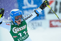 28.12.2014, Hohe Mut, Kühtai, AUT, FIS Ski Weltcup, Kühtai, Riesenslalom, Damen, 2. Durchgang, im Bild Sara Hector (SWE) // Sara Hector of Sweden reacts after 2nd run of Ladies Giant Slalom of the Kuehtai FIS Ski Alpine World Cup at the Hohe Mut Course in Kuehtai, Austria on 2014/12/28. EXPA Pictures © 2014, PhotoCredit: EXPA/ Erich Spiess