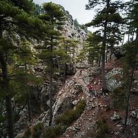 Greg Watts & Mike Foster, Mar-e-mar trail, Corsica, France.