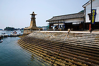 Tomonoura Port -  The Inland Sea is the body of water separating Honshu Shikoku, and Kyushu, three of the main islands of Japan.  Almost 3000 islands are located in the Inland Sea, including the larger islands Awajishima and Shodoshima. Many of the smaller islands are uninhabited.