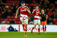 Middlesbrough defender Daniel Ayala (4)  controls the ball  during the The FA Cup match between Middlesbrough and Sheffield Wednesday at the Riverside Stadium, Middlesbrough, England on 8 January 2017. Photo by Simon Davies.