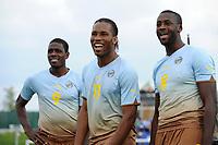 FOOTBALL - PUMA AFRICAN UNITY EXPERIENCE - 28/05/2010 - MOHAMADOU IDRISSOU (CAM) - DIDIER DROGBA (CIV) - YAYA TOURE (CAM)<br /> PHOTO : FRANCK FAUGERE / DPPI