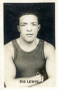 "Amazing images of Britain's best boxers from the 1920's<br /> <br /> From the 1920s up until World War 2 cigarette companies, sporting magazines and boys' weeklies included real photo cards of sports stars to collect and swap. These photos of British boxers come from magazines like The Champion, The Magnet and Boy's Friend and cigarette companies such as Senior Service and Ogdens.<br /> <br /> Photo shows: Ted ""Kid"" Lewis: It's a toss up who was the greatest fighter to come out of whitechapel; Jack Berg or 'the smashing, dashing, bashing, slashing, crashing terror' who was born Gershon Mendeloff in 1893. Ad Ted ""Kid"" Lewis he won the world welterweight championship twice, in a series of fights with Jack Britton between 1915 and 1919. He had 300 fights (that have been recorded) and only lost 30.<br /> ©One mans treasure/Exclusivepix Media"