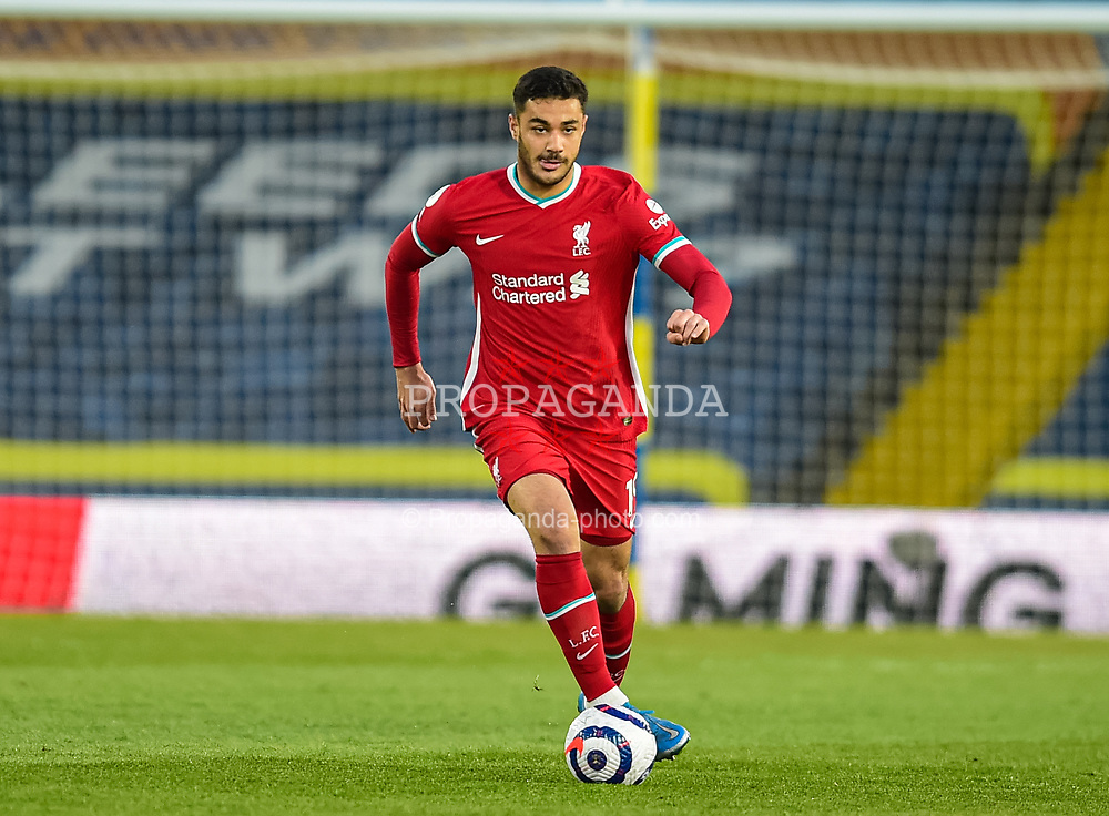 LEEDS, ENGLAND - Monday, April 19, 2021: Liverpool's Ozan Kabak during the FA Premier League match between Leeds United FC and Liverpool FC at Elland Road. (Pic by Propaganda)