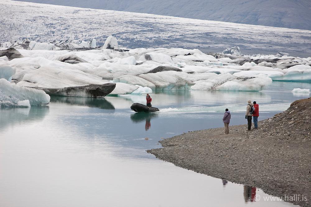 Jökulsárlón á Breiðamerkursandi-  The lake, Jokulsarlon in Breidamerkursandur, Iceland