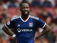 Football - 2019 Emirates Cup - Arsenal vs. Lyon<br /> <br /> Olympique Lyonnais' Moussa Dembele celebrates scoring his side's second and winning goal, at the Emirates Stadium.<br /> <br /> COLORSPORT/ASHLEY WESTERN