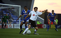 Photo: Rich Eaton.<br /> <br /> Shrewsbury Town v Fulham. Carling Cup. 28/08/2007. Fulham's Alexey Smertin (r) tries to getaway from Chris Humphrey.