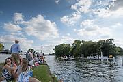Henley-on-Thames. United Kingdom.  Start Area, Women's Single Scull. Semi Final Sat, 2017 Henley Royal Regatta, Henley Reach, River Thames. <br /> <br />  <br /> 17:33:51  Saturday  01/07/2017   <br /> <br /> [Mandatory Credit. Peter SPURRIER/Intersport Images.