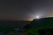Cape Schanck Lighthouse at night starry background