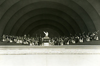 1929 Orchestra practice at the Hollywood Bowl