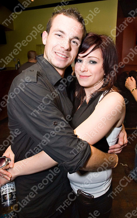 Ian Hickey and Audrey Byron from  Clare enjoy  Hot Chip and Crazy P at the GPO nightclub in Galway.<br />Trent Keegan