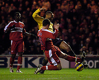 Photo: Jed Wee.<br /> Middlesborough v Arsenal. The Barclays Premiership. 03/02/2007.<br /> <br /> Arsenal's Thierry Henry scores his team's equaliser.