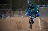 #599 (DOS REIS Rogerio) BRA at the 2014 UCI BMX Supercross World Cup in Santiago Del Estero, Argentina.