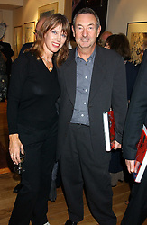 NICK & NETTE MASON at a party to celebrate the publication of Drawing Blood -Forty-Five Years of Scarfe Uncensored, a book of Gerald Scarfe's work held at The Fine Arts Society, New Bond Street, London on 3rd November 2005.<br />