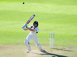 John Simpson of Middlesex hits down the ground.  - Mandatory by-line: Alex Davidson/JMP - 13/07/2016 - CRICKET - Cooper Associates County Ground - Taunton, United Kingdom - Somerset v Middlesex - Day 4 - Specsavers County Championship Division One