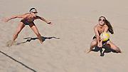Playing Beach Volleyball in Huntington Beach