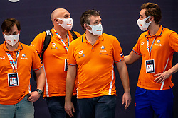 Crew of the Netherlands disappointed against Montenegro during the Olympic qualifying tournament. The Dutch water polo players are on the hunt for a starting ticket for the Olympic Games on February 19, 2021 in Rotterdam