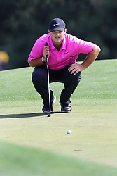 April 8, 2018 - Augusta, GA, USA - Patrick Reed lines up his putt on eight during the final round of the Masters at Augusta National Golf Club on Sunday, April 8, 2018, in Augusta, Ga. (Credit Image: © Curtis Compton/TNS via ZUMA Wire)