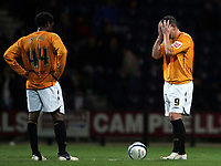 Photo: Paul Thomas/Sportsbeat Images.<br /> Preston North End v Hull City. Coca Cola Championship. 04/12/2007.<br /> <br /> Hull's Dean Windass (R) shows his dejection after Preston score their third goal.