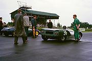 Bill de Selincourt, Whitsun Sports car race 3 June 1963, First place winner, Lotus Climax car on start line, Goodwood, England, UK
