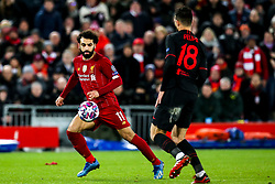 Mohamed Salah of Liverpool takes on Felipe of Atletico Madrid - Mandatory by-line: Robbie Stephenson/JMP - 11/03/2020 - FOOTBALL - Anfield - Liverpool, England - Liverpool v Atletico Madrid - UEFA Champions League Round of 16, 2nd Leg